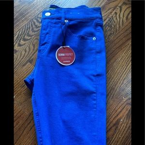 Colbalt bright blue stretch denim/ jean leggings